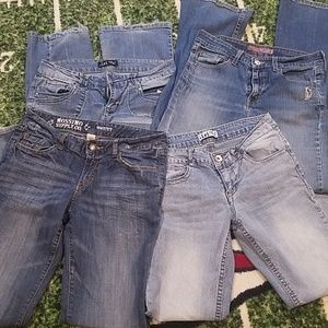 4 Pairs of Girls Junior Bootcut Jeans